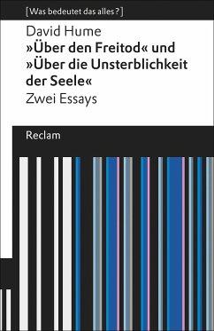 »Über den Freitod« und »Über die Unsterblichkei...