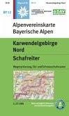 Alpenvereinskarte Karwendelgebirge Nord, Schafreiter