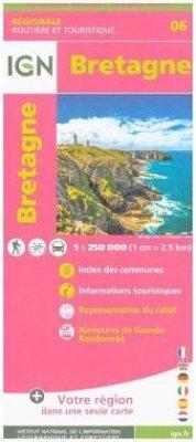 IGN Karte, Régionale Routière et Touristique Bretagne