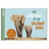 Postkarten-Buch »Eine dicke Haut ist ein Geschenk Gottes«
