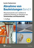 Abnahme von Bauleistungen Band II - E-Book (PDF) (eBook, PDF)