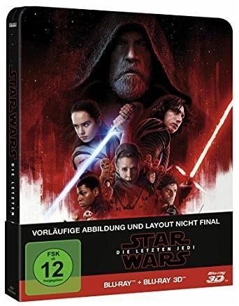 Star Wars: Die letzten Jedi (3D+2D Blu-ray) STEELBOOK