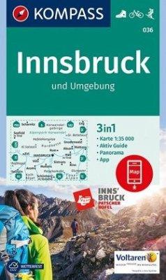 KOMPASS Wanderkarte Innsbruck und Umgebung