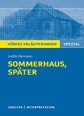 Sommerhaus, später von Judith Hermann. Königs Erläuterungen Spezial
