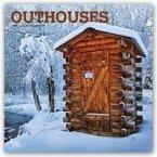 Outhouses - Toilettenhäuschen 2019 - 18-Monatskalender
