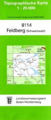 Topographische Karte Baden-Württemberg Feldberg...
