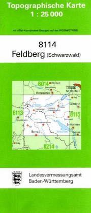 Nordschwarzwald Karte.Topographische Karte Baden Württemberg Feldberg Schwarzwald