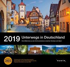 Tischkalender Unterwegs in Deutschland 2019