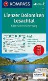 KOMPASS Wanderkarte Lienzer Dolomiten, Lesachtal, Karnischer Höhenweg