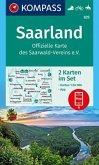 Kompass Karte Saarland, Offizielle Karte des Saarwald-Vereins e.V.