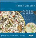 Geographisch-Kartographischer Kalender 2019 - Himmel und Erde - Historische Landkarten