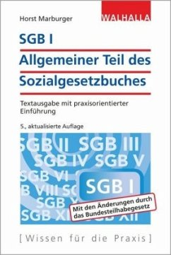 SGB I - Allgemeiner Teil des Sozialgesetzbuches - Marburger, Horst