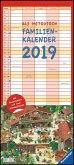 Ali Mitgutsch Familienkalender 2019 - Wandkalender - Familienplaner mit 5 Spalten