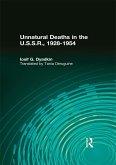 Unnatural Deaths in the U.S.S.R. (eBook, PDF)