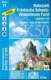 Topographische Karte Bayern Fränkische Schwei z- Veldensteiner Forst, südlicher Teil