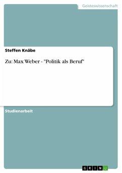 Zu: Max Weber -
