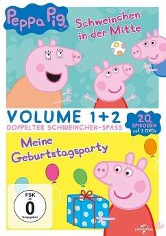 Peppa Pig - Schweinchen in der Mitte & Meine Geburtstagsparty - 2 Disc DVD - Keine Informationen