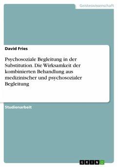 Psychosoziale Begleitung in der Substitution. Die Wirksamkeit der kombinierten Behandlung aus medizinischer und psychosozialer Begleitung (eBook, PDF)