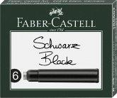 Faber-Castell Tintenpatronen Standard schwarz 6er