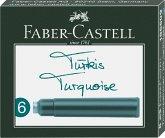 Faber-Castell Tintenpatronen Standard türkis 6er