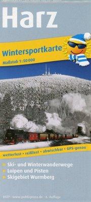 PUBLICPRESS Wintersportkarte Harz
