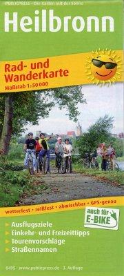 PUBLICPRESS Rad- und Wanderkarte Heilbronn