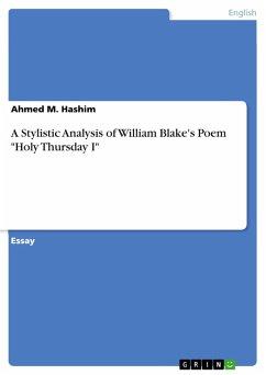 A Stylistic Analysis of William Blake's Poem