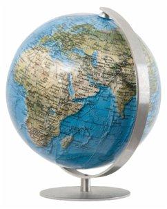 DUORAMA Mini Globus, Fuß u. Meridian Edelstahl ...
