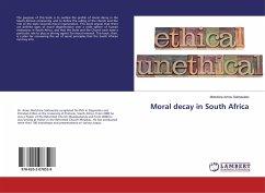 Moral decay in South Africa - Sekhaulelo, Motshine Amos
