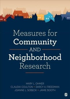 Measures for Community and Neighborhood Research