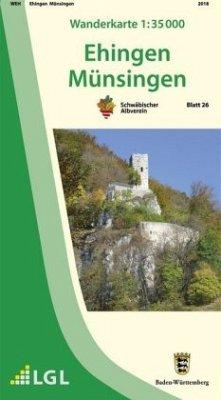 Topographische Wanderkarte Baden-Württemberg Eh...