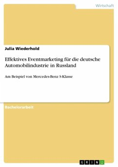 Effektives Eventmarketing für die deutsche Automobilindustrie in Russland (eBook, ePUB)