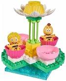 BIG 800057129 - Bloxx, Biene Majy, Blütenkarussell- Bausteinset mit 38 Teilen - Inkl. Spielfiguren Maja und Willi<br>