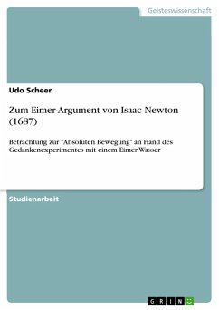 Zum Eimer-Argument von Isaac Newton (1687)
