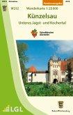 Topographische Wanderkarte Baden-Württemberg Künzelsau - Unteres Jagst- und Kochertal