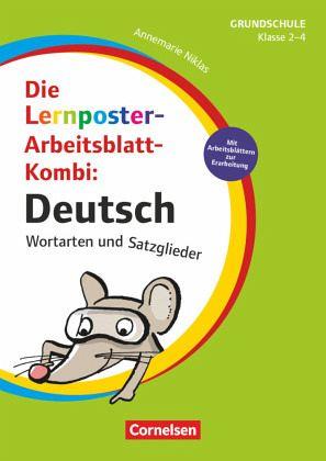 Die Lernposter-Arbeitsblatt-Kombi: Deutsch - Wortarten und ...