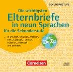 Die wichtigsten Elternbriefe in neun Sprachen für die Sekundarstufe I, CD-ROM