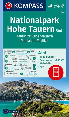 KOMPASS Wanderkarte Nationalpark Hohe Tauern Süd, Mallnitz, Obervellach, Maltatal, Mölltal