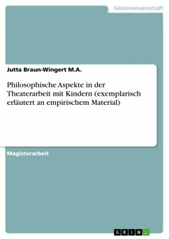Philosophische Aspekte in der Theaterarbeit mit Kindern (exemplarisch erläutert an empirischem Material) (eBook, ePUB)