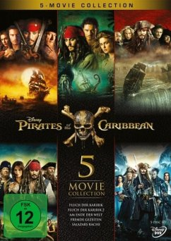 Pirates of the Caribbean 1 - 5 DVD-Box