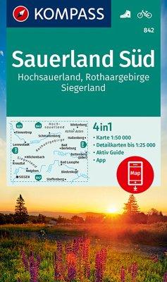 KOMPASS Wanderkarte Sauerland 2, Hochsauerland, Rothaargebirge, Siegerland