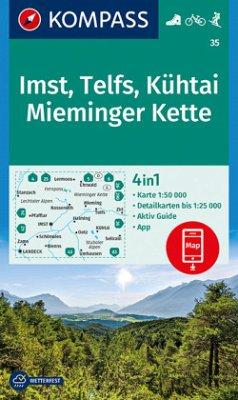 Kompass Karte Imst, Telfs, Kühtai, Mieminger Kette