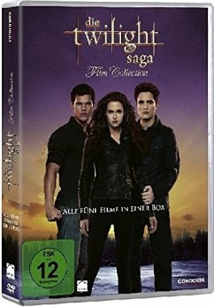 Die Twilight-Saga Film Collection DVD-Box - Twilight-Saga-Single 1-5/5dvd