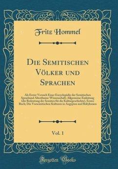 Die Semitischen Völker und Sprachen, Vol. 1