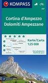 KOMPASS Wanderkarte Cortina d'Ampezzo, Dolomiti Ampezzane
