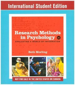 Research Methods in Psychology, International Student Edition - Morling, Beth