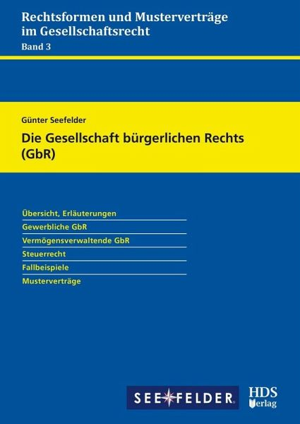 Die Gesellschaft Bürgerlichen Rechts Gbr Ebook Pdf Von Günter