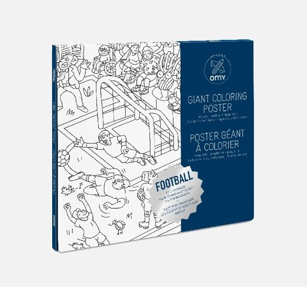Giant Coloring Poster 70 x 100, Football