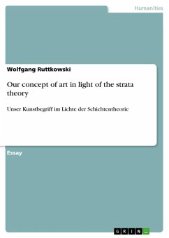 Our concept of art in light of the strata theory (eBook, ePUB)