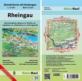 NaturNavi Wanderkarte mit Radwegen Rheingau